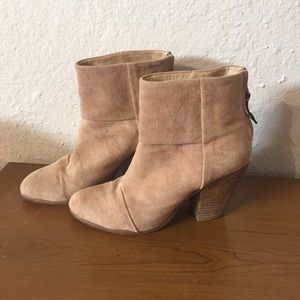 Rag & Bone distressed canvas Newbury booties 40